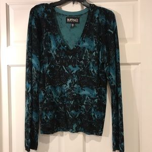 Buffalo David Bitton light Sweater knit top L